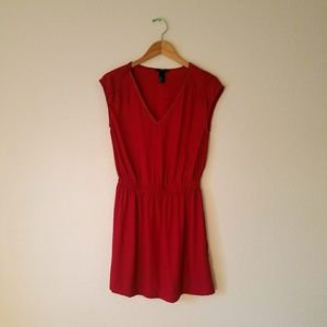Red V-Neck H&M Dress