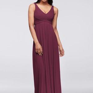 Wine Bridesmaid Dress {David's Bridal} 👰🏼