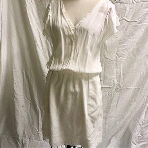 Rebecca Taylor Sample Silk Dress Cream sz 6