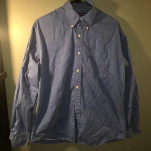 Men's Long Sleeve Blue Button Down