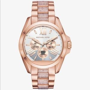 Michael Kors Rose Gold Pave Band Access Smartwatch