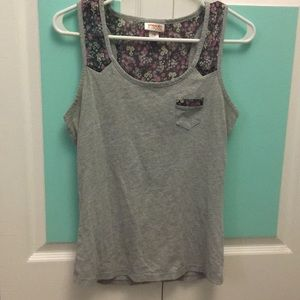 Tank top with floral detail