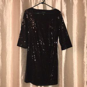 Black Sequin Dress!!