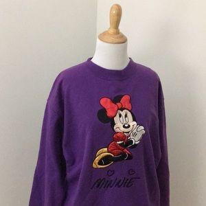 Vintage 1990s Minnie Mouse Embroidered Sweatshirt