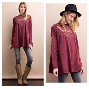 ANTHROPOLOGIE • EASEL TOP TUNIC BLOUSE L WOMENS