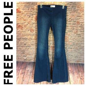 💸Free People Skinny Flare Leg pull on jean