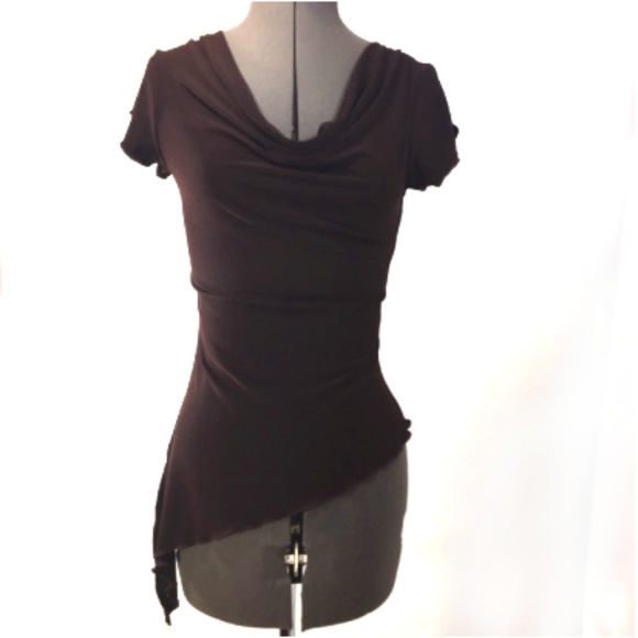 a12fc8715d can't miss Tops | Cant Miss Brown Asymmetric Top With Cowl Neckline ...