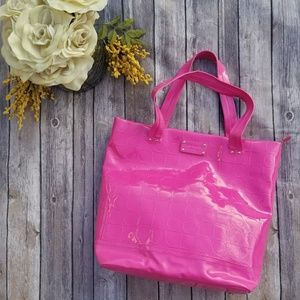 🎉Kate Spade Patent Leather Hot Pink Tote Bag🎉