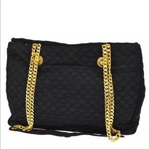 Gucci GG Pattern Double Chain shoulder bag