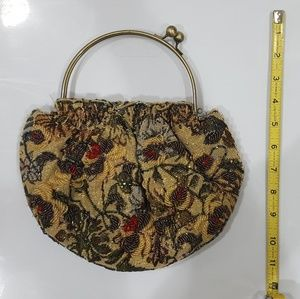 Floral beaded dress bag