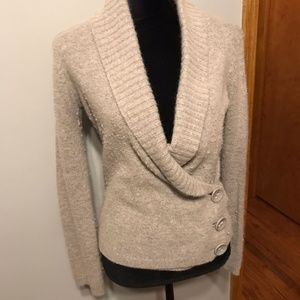 H&M Wrap/Sweater Cardigan in Gray