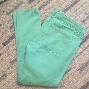 Mint Green GAP Skinny Cropped Jeans
