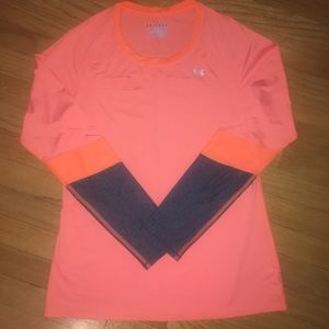 Women's Under Armour Fitted Long Sleeve Orange