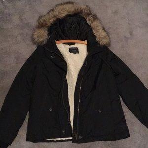 Black American eagle coat