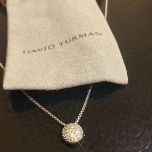 David Yurman Pavé Pendant Necklace with Diamonds
