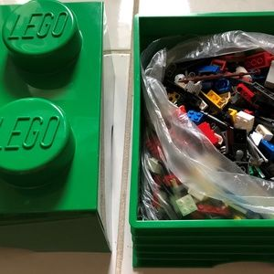 Lego Storage Brick filled with 2.5 pounds Legos