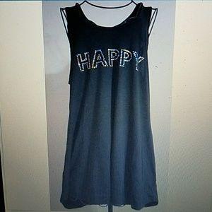 Philosophy Happy Tank Top Embellished Hi Lo