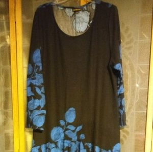 BLOUSE WITH PEACOCK TAIL..3X