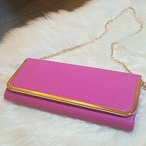 Hot Pink  Clutch Bag
