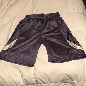 Athletic shorts with pockets.