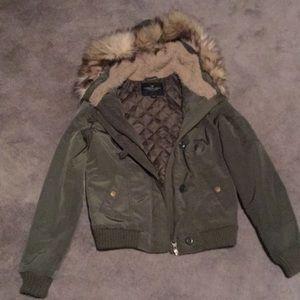 American eagle xs green jacket