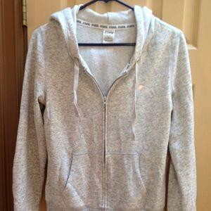 Grey love pink sweatshirt