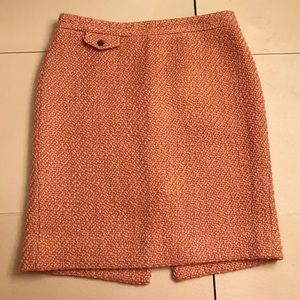 J Crew Wool Pencil Skirt size 8 pink
