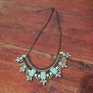 Gorgeous Baublebar Turquoise & Gun Metal Necklace