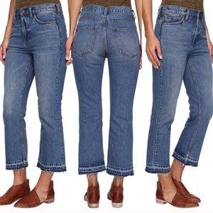 Free People Frayed Hem Jeans