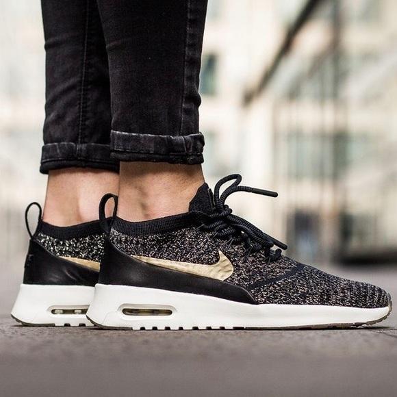e69b758782 Nike Shoes | Air Max Thea Metallic Gold Flyknit Sneakers | Poshmark