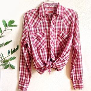 VTG🌵Cowgirl Western Ely Pearl Snap Gingham Shirt!