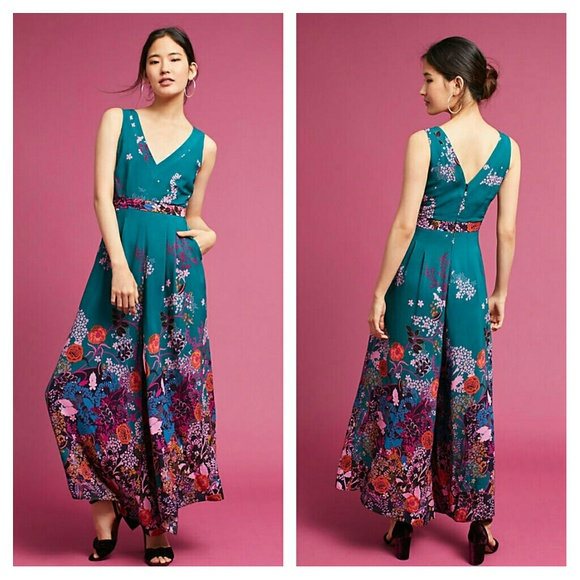 2ad188ba52b7 Anthropologie Andalusia Jumpsuit