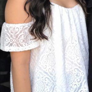 White off the shoulder shirt