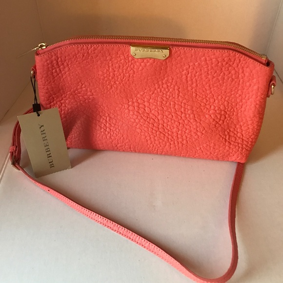 69f7dca0ad3 Burberry Bags | Sg Grain Check Small Chichester Clutch Rose Pink ...