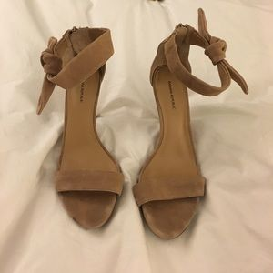 Banana Republic Nude Suede Ankle Strap Sandals