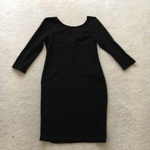 Basic Long-Sleeve Black Dress