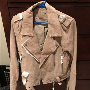 NWT BlankNyc Suede Moto Jacket - Sandstoner