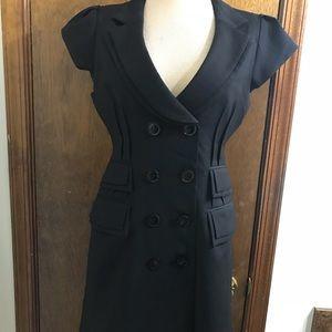 Nanette Lepore Women's Black Tuxedo Dress Size 10