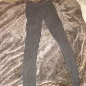 Grey Gap Leggings with Ankle Snaps