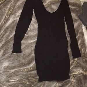 American Apparel Black T-Shirt Dress