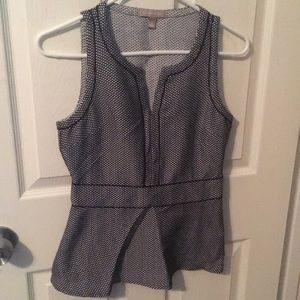 Banana republic peplum fitted top with side zip