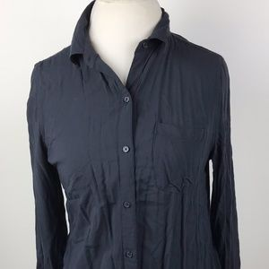 Old Navy Shirt size Medium Womens Blue Long Sleeve