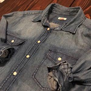 Fossil denim Button Down shirt