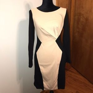 ABS Collection Black and Tan Knit Dress