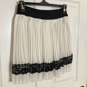 Forever 21 Pleated Skirt with Lace Detail