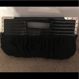 Black wedding purse