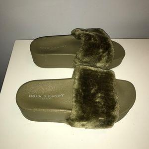 40fc73bd733221 Rock   Candy Shoes - Rock   Candy Faux Fur Platform Slide Sandal Shoes