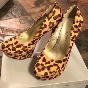 Cheetah fur heel