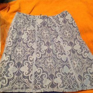 NY&Company Blue Lace Skirt Sz 0 NWOT