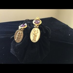 Jewelry - Amethyst earrings, Clip on, Stunning.